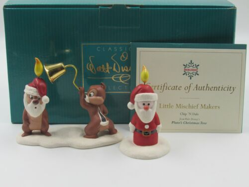 """WDCC """"Little Mischief Makers"""" Chip N Dale and Santa Candle in Box with COA"""