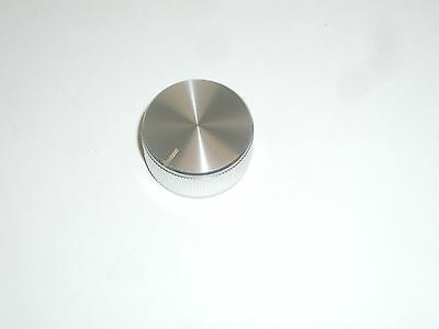 Ced P-k312 Aluminum Knurled 1-14 Round Radio Dial Knob Silver 14 Shaft 1pc