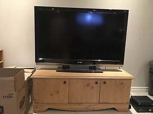 "52"" Sharp Aquos tv and cabinet"