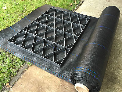 GARDEN SHED BASE 7x5 FEET KIT+HEAVY DUTY MEMBRANE SHEET GARDEN BASE GRID FLOOR 2