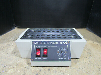 Clay Adams Marsters Incubator 5380 37c Nominal Temperature Tested And Working
