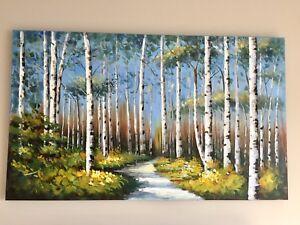 """Toile nature, """"vraie"""" peinture"""
