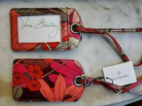 Vera Bradley BOHEMIAN BLOOMS 2 pc, Luggage Tags - NEW & Sealed