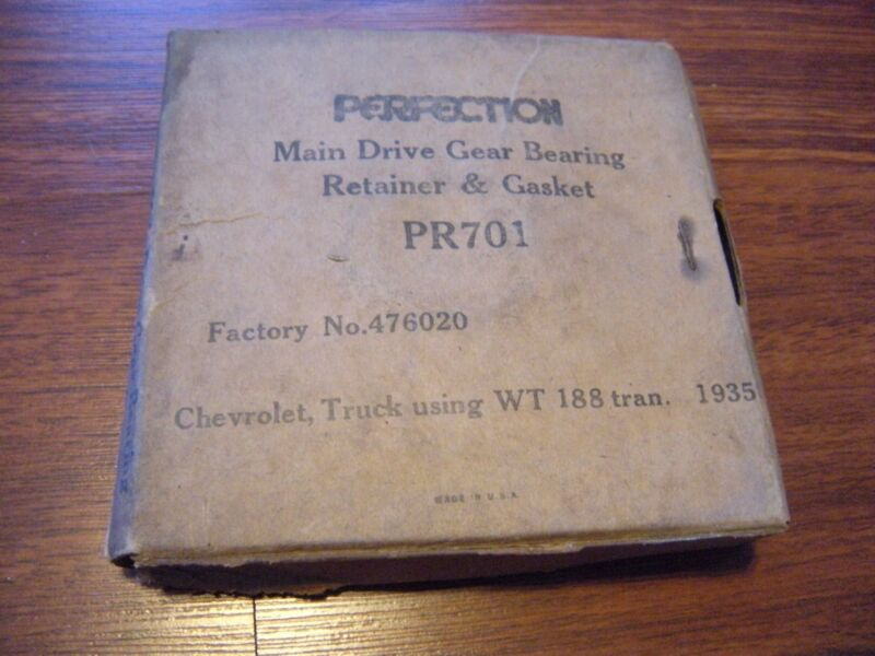 NOS Perfection Main Drive Gear Bearing Retainer W Gasket 476020 Chevy 1935 Truck