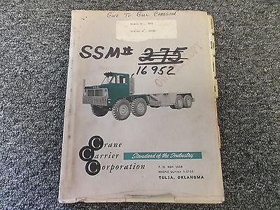 Ccc Crane Carrier Company Model 444 Truck Original Parts Catalog Manual Book