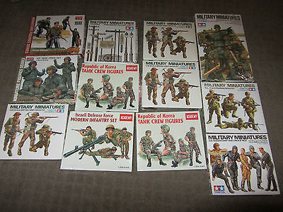 MIXED LOT (12 KITS) 1/35 SCALE MILITARY MINIATURE FIGURES PLASTIC MODEL KITS. on Rummage