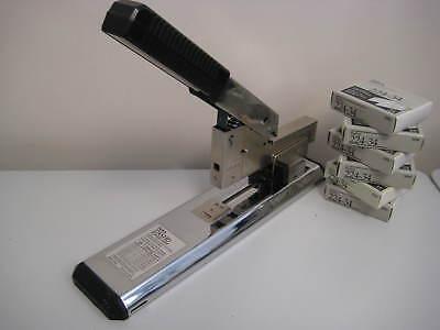 Bates Power Arm Extra Heavy Duty 200 Sheet Stapler Bundle W Staples - 224xhd