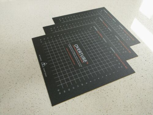3 Pack - Overture 3D Printer Build Surface 200mm x 200mm