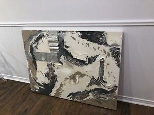 Toile acrylique abstrait