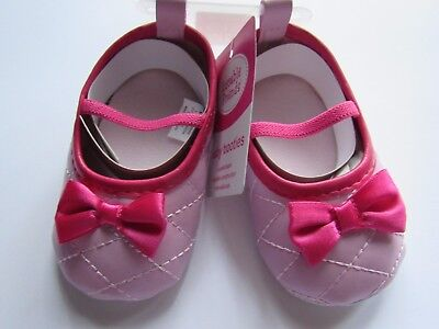 Luvable Friends Baby Girl Slip-On Baby Bootie Pink Quilted Mary Jane Shoe
