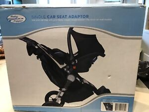 Baby jogger single car seat adaptor and belly bar