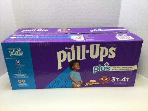 Huggies Pull-Ups Plus Training Pants For Boys, 3T - 4T, 116ct, SPIDERMAN