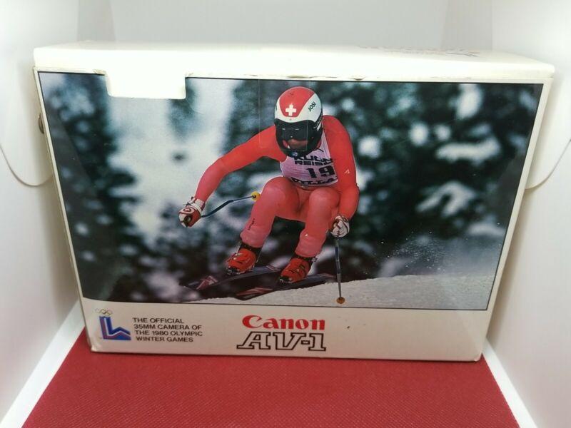 Canon AV-1 Body Boxed 1980 Olympics