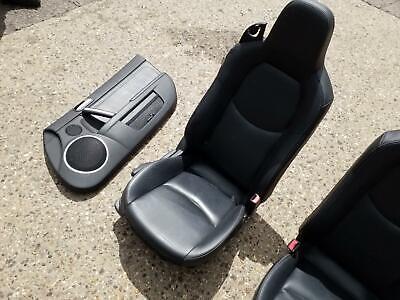 2006 MAZDA MX5 INTERIOR BLACK LEATHER SEATS AND DOOR CARDS