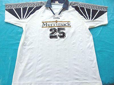 Vintage 90S Ncaa Diadora Merrimack College Game Worn Soccer Jersey Size Xl
