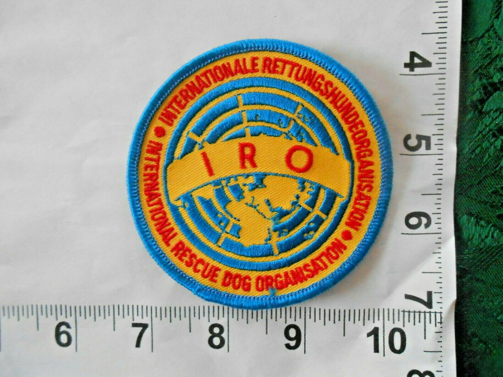 International Rescue Dog Organisation IRO Patch Sew On Patch With Free S h - $4.49