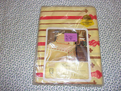 Vintage NIP sears Kismet yellow orange FULL Flat bed sheet