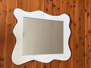 Large mirror with white-silver frame Darling Point Eastern Suburbs Preview