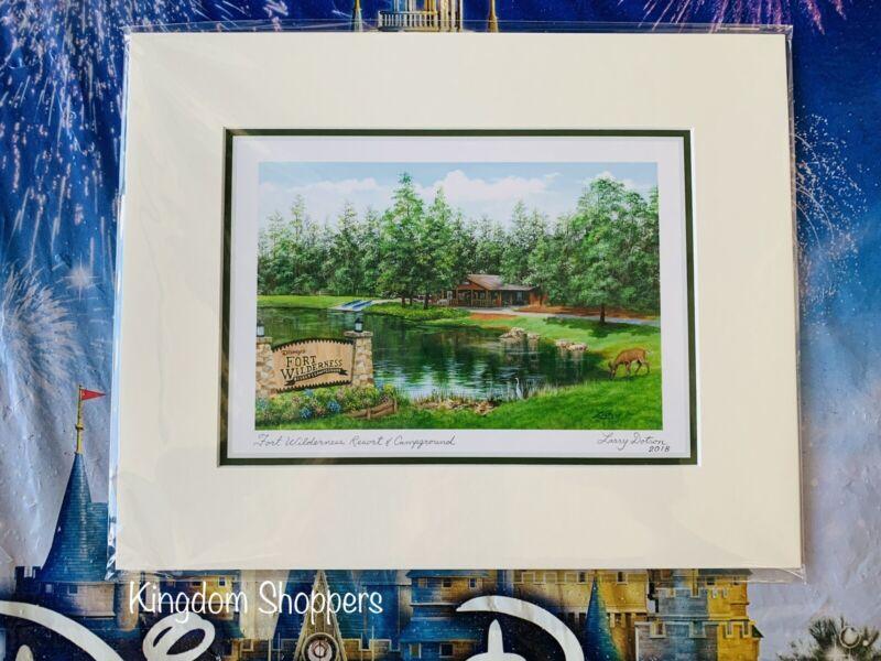 "Disney Parks FORT WILDERNESS RESORT CAMPGROUND Larry Dotson Print NEW 8"" x 10"""