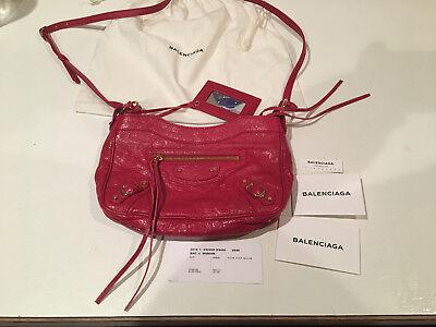 NWT Balenciaga Red Classic Hip Leather Crossbody Bag Retails $785.00