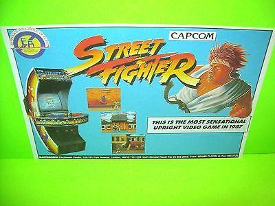 Capcom STREET FIGHTER Original NOS 1987 Video Arcade Game Flyer Electrocoin Rare