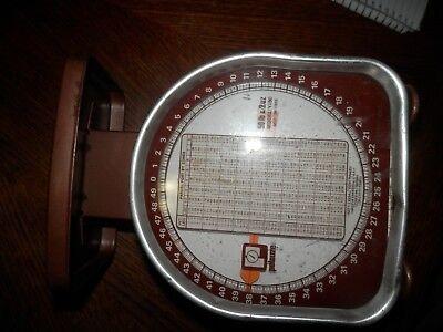 Vintage Pelouze Scale Model Y50 50 Lb X 2 Oz May 29 1978 Postal Scale
