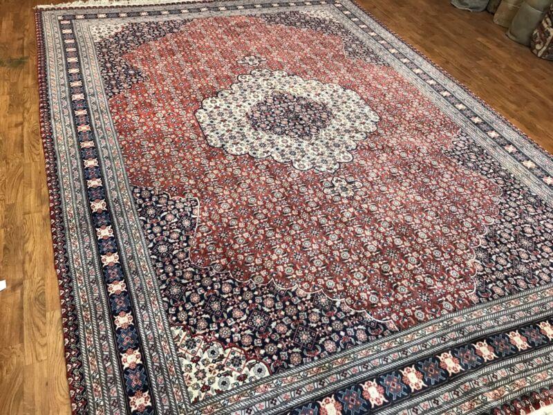 Very Fine Handwoven Persian Tabriz 100% Pure Wool & Silk Rug, Size 8