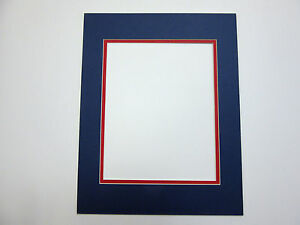 Picture Frame Double Mat 10x13 For 8x10 Photo Blue With
