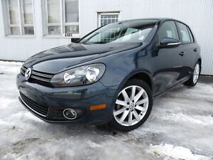 2012 Volkswagen Golf TDI Highline, LEATHER, SUNROOF, HEATED SEAT