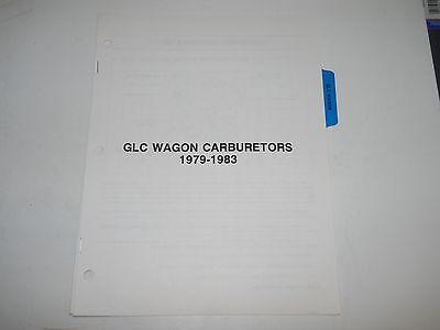1979 80 81 82 83 MAZDA GLC WAGON CARBURETORS SERVICE MANUAL 83 Mazda Glc Wagon