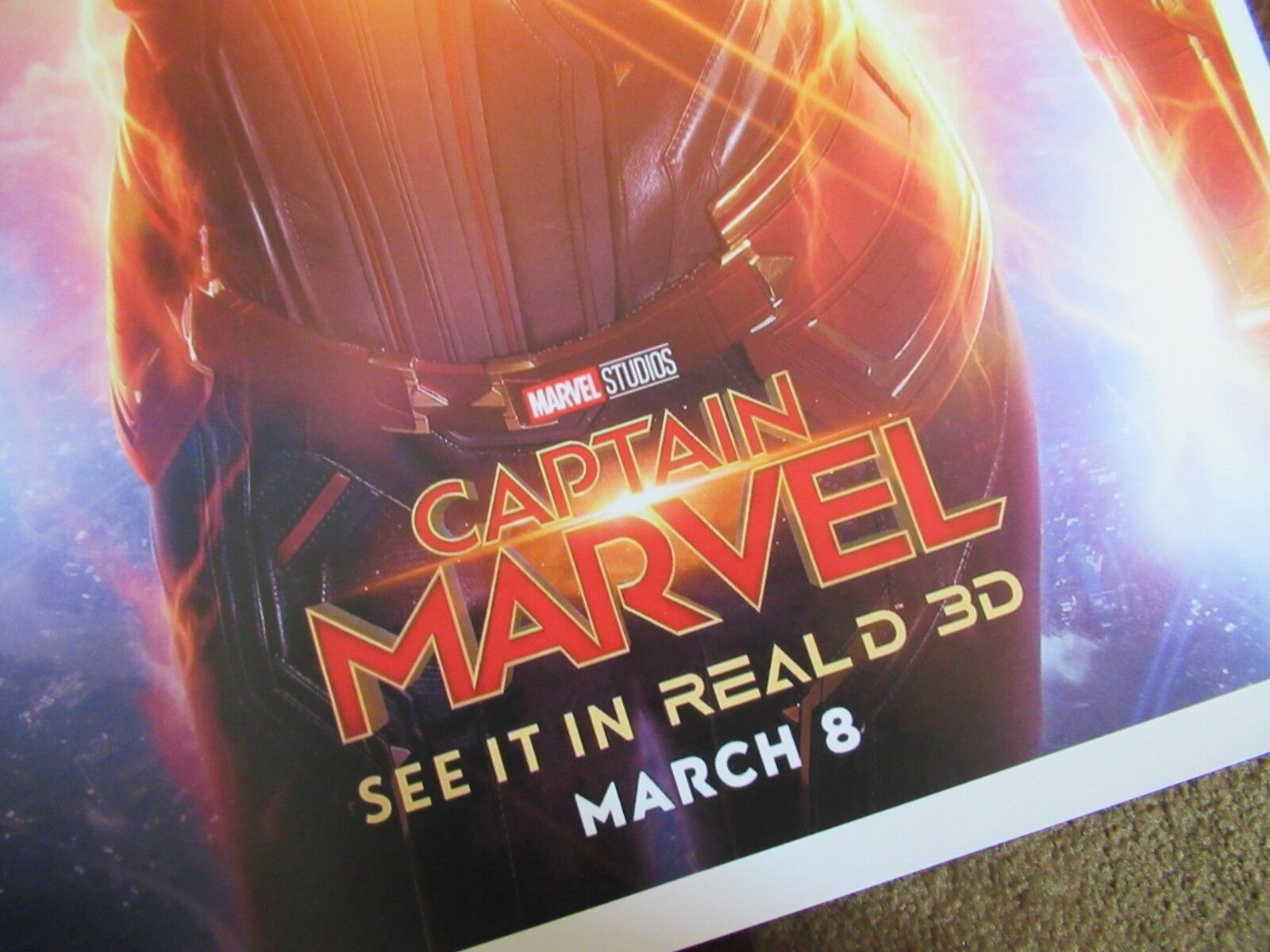 """11/"""" x 17/"""" B2G1F Captain Marvel Movie Collector/'s Poster Print"""
