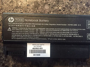 HP COMPAQ LAPTOP NOTEBOOK LITHIUM ION RECHARGEABLE BATTERY