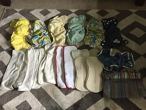 Practically new cloth diapers