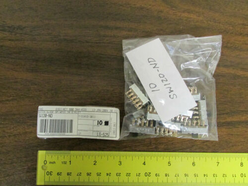 10 Pieces Digi-Key SW120-ND Slide Switch 4-Position 3A Eyelet New