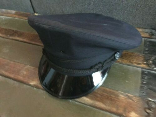 new DETROIT POLICE UNIFORM HAT/CAP-USA MADE/SURPLUS NEW Dark blue sz 7 7/8- XL