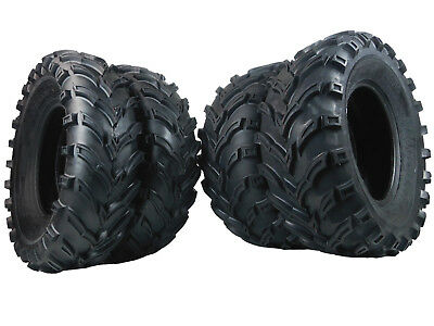 New MASSFX ATV UTV Tires 2 25x10 12 and 2 25x8 12 6 Ply Tire Set Front Rear