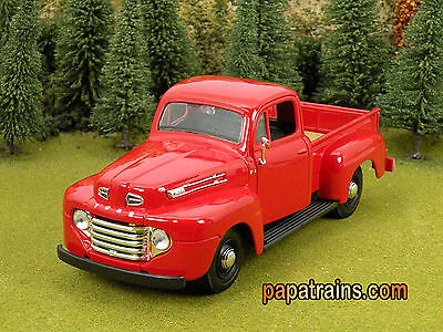 DieCast Red 1948 Ford Pickup Classic G Scale 1:25 by Maisto 48 Ford Pickup