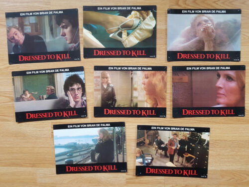 Brian De Palma DRESSED TO KILL  8 lobby cards ANGIE DICKINSON 1981 Michael Caine