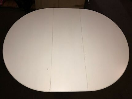White Extension Table