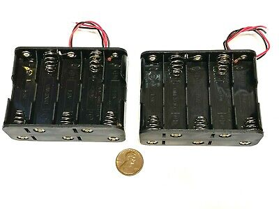 2 Pieces Battery Holder Box Case Wired 10 X Aa 12v 15v 10aa Back To Back C38