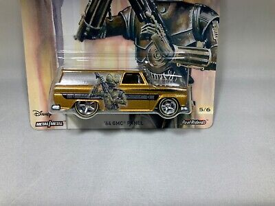 "Hot Wheels 2017 Pop Culture ""Star Wars"" '64 GMC Panel w/ Real Riders Read"