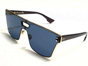 New Authentic Christian Dior DIORIZON1 NOA/A9 Gold Burgundy/Blue Sunglasses