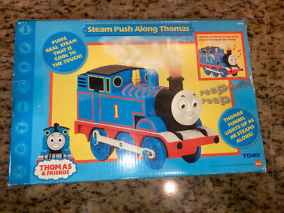 Steam Push Along Thomas Tested And Working by Tomy 2005 - Puffs real steam! RARE