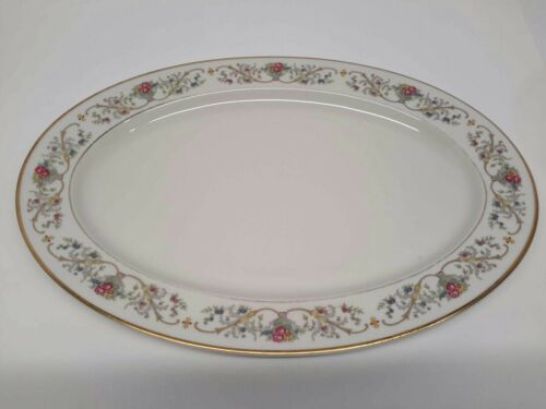 "Lamberton Ivory Fine China DOROTHEA Serving Platter 14 1/4"" Oval Plate"