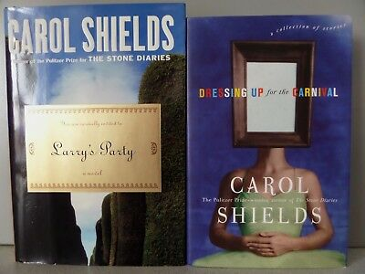 Lot/2 CAROL SHIELDS Hardcover 1sts LARRY'S PARTY+Dressing Up For -