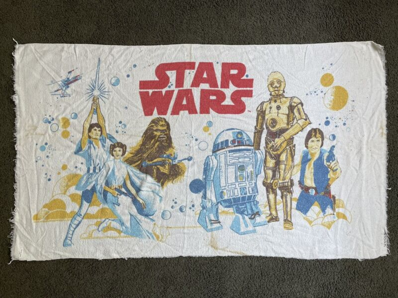 """REAL VINTAGE 1977 Star Wars Beach Towel 54"""" x 31"""" by Cannon"""
