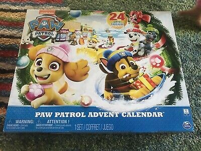 Paw Patrol Advent Calendar with 24 Collectible Plastic Figures NEW CHRISTMAS HTF