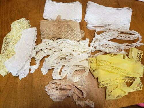 Lot of Vintage Lace 1-5 yard lengths