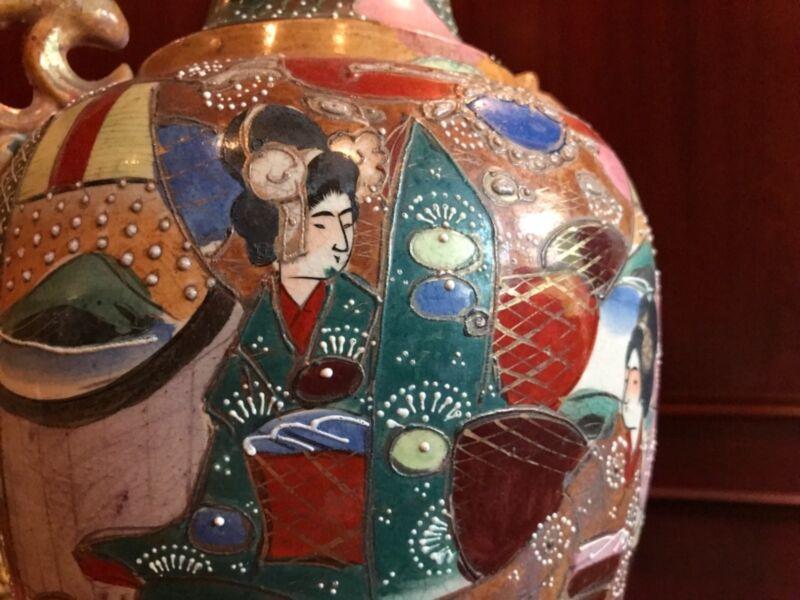 Handmade Japanese Porcelain Vase - Antique Decorative