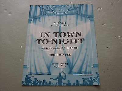 In Town To-Night,  Sheet Music